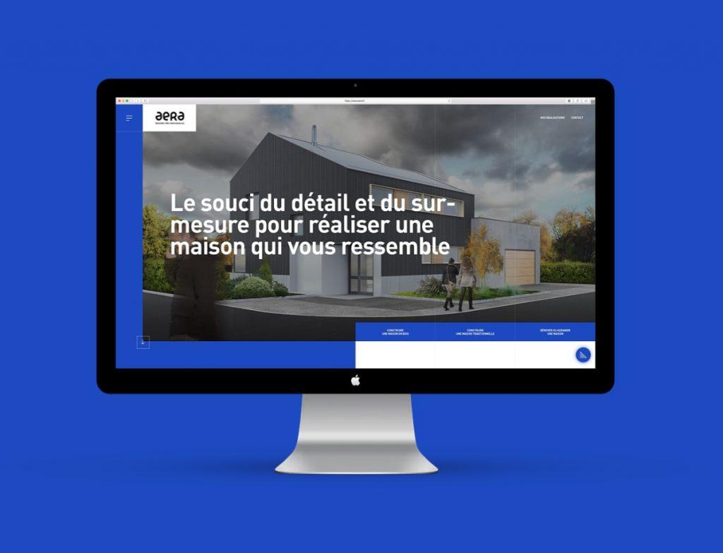 Aera : Un site web créé par l'agence mulhousienne Mars Rouge